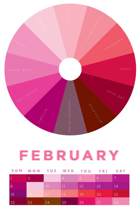 unique colors the colors of february 2015 chromophilia color wheel