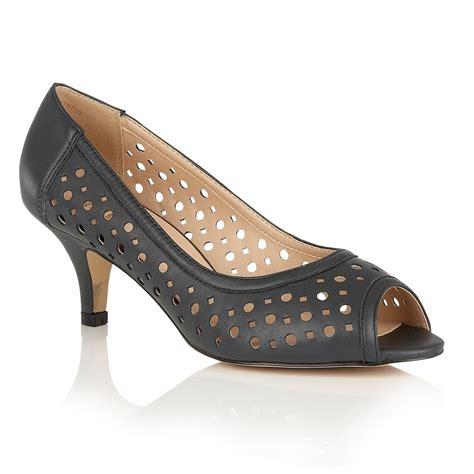 lotus shoes lotus hallmark danita navy leather open toe court shoes
