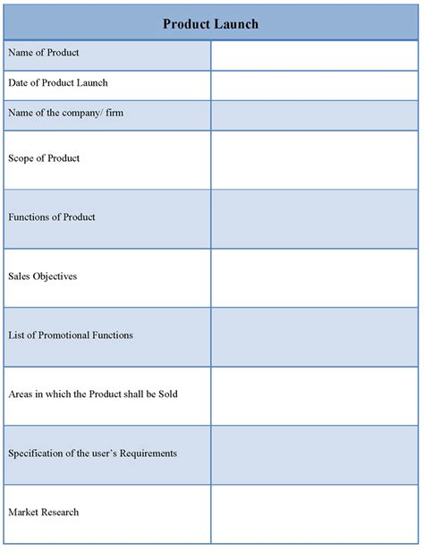 product launch template best photos of product launch plan exle product