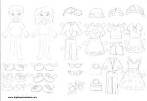 Family Cut Out Templates by Free Printable Paper Doll Cutout Templates For And Adults