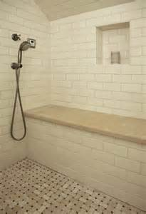 built in shower bench bathroom traditional with shower