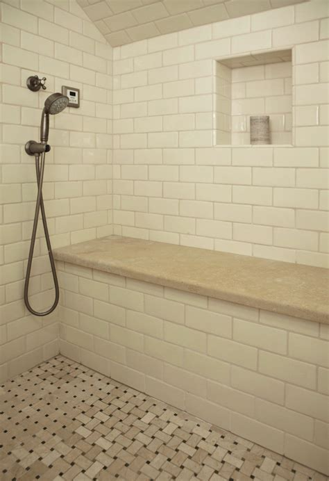tile shower bench built in shower bench bathroom traditional with shower