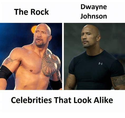 dwayne johnson the rock boulder dwayne the rock johnson celebrities that look alike the