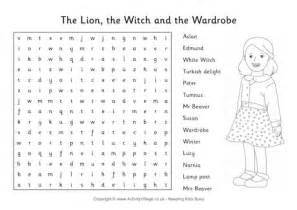 The The Witch And The Wardrobe Activity Sheets by The The Witch And The Wardrobe Word Search