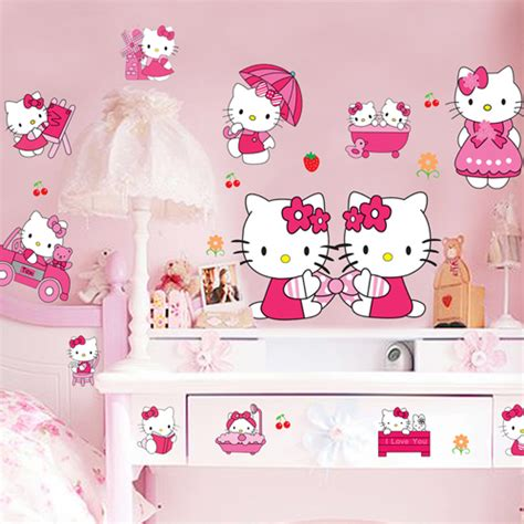 hello kitty stickers for bedroom walls aliexpress com buy sticker cheap kids bedroom decor 3d
