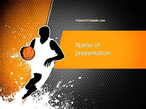 Basketball Man Powerpoint Template Authorstream Basketball Powerpoint Presentation
