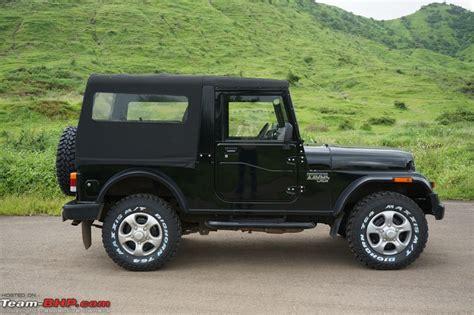open jeep modified in black colour mahindra thar hobbydb