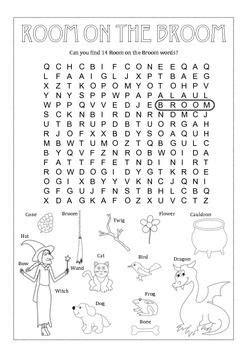 Fun Vocabulary Room on the Broom Word Searh Worksheet