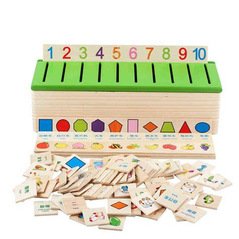 Knowdgledge Classification Box aliexpress buy learn montessori educational wooden