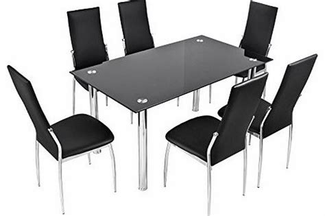 Black Glass Dining Table And 6 Chairs Cheap Cheap Tables And Chairs