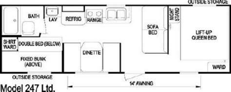 layton rv floor plans 2007 skyline layton limited 247 floorplan