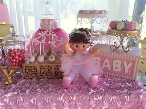 pink and gold baby shower table decorations tutu and tiara baby shower baby shower ideas themes