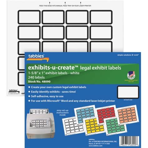 printable exhibit stickers tabbies exhibit u create label tab48090 shoplet com