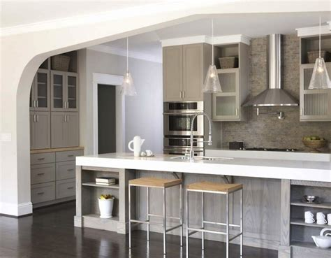 gray shaker cabinets contemporary kitchen amoroso design