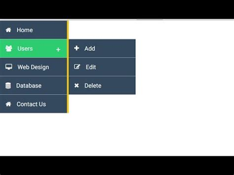 css layout with menu design vertical menu with css youtube