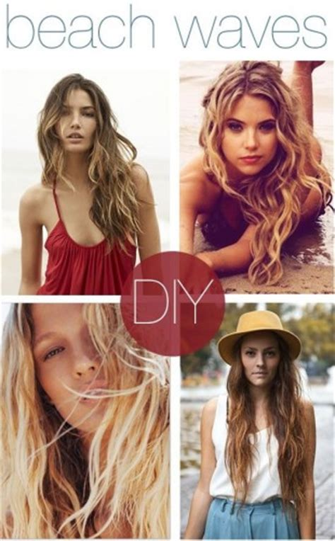 easy beachy waves hair tutorial diy sea salt spray diy beach waves hair pinlavie com