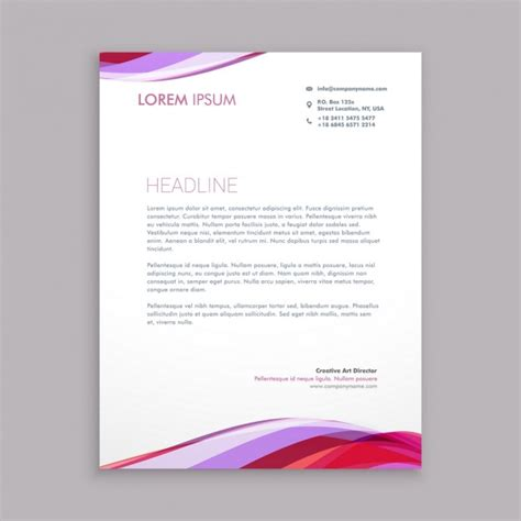 business letterhead vector free wave business letterhead vector free