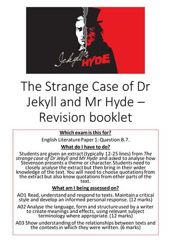 strange case of jekyll and hyde themes jekyll hyde revision booklet aqa by tb9605 teaching