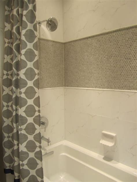 bathroom tile accent wall floors penny round tile for wall accent bathroom interir