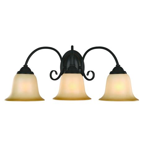 Light Sconces For Bathroom by Rubbed Bronze 3 Bulb Bathroom Light Wall Sconce