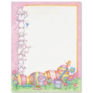 easter bunnies letter paper idea