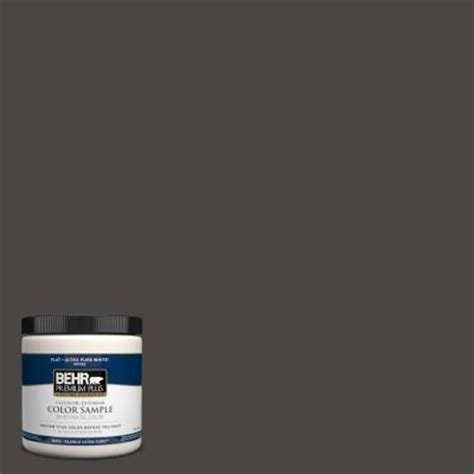 behr premium plus 8 oz 780f 7 stealth jet interior exterior paint sle 780f 7pp the home depot