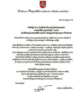 Invitation Letter Lithuania click letter from lithuania foreign ministry congratulating spindulys