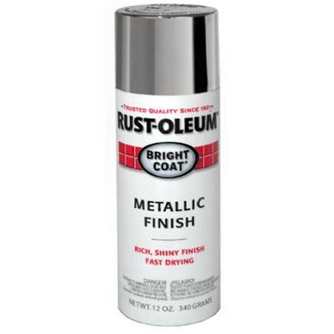rust oleum 7715830 bright coat metallic color spray aluminum 11 ounce tools home