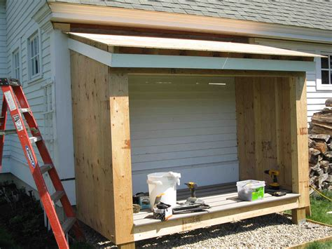 Storing Firewood In Garage by Building A Firewood Shed A Concord Carpenter