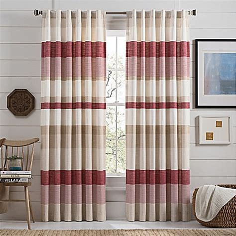 mastering the way of red bed curtains is not an accident lakeside stripe rod pocket window curtain panel in red