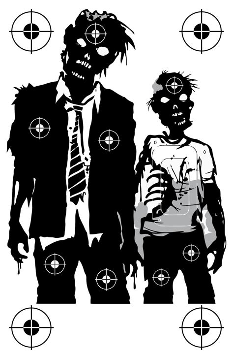printable zombie targets the gallery for gt zombie shooting targets to print