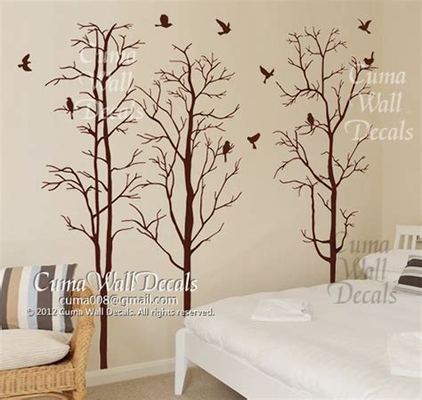 Brown Tree Wall Decal Nursery Tree Wall Decal Nursery Wall Sticker Cuma Wall Decals