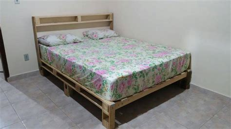 bed frame pallets diy pallet bed with headboard and lights 101 pallet ideas