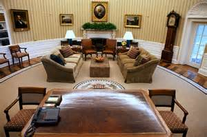 Oval Office Layout the oval office on tuesday gone are the gold and yellow tones and the