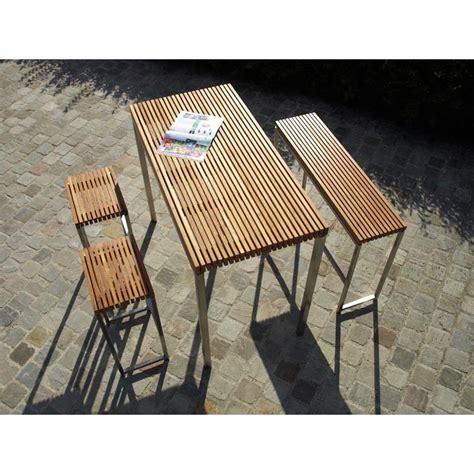 banc bar banc de bar lechio teck meuble bois exotique