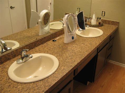 bathroom laminate countertop