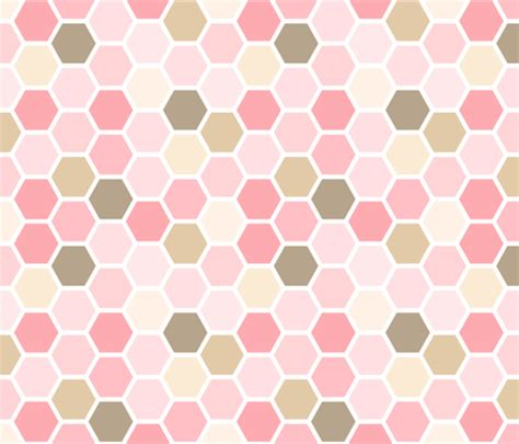 pink pattern girly girly pink and brown geometric honey comb pattern fabric
