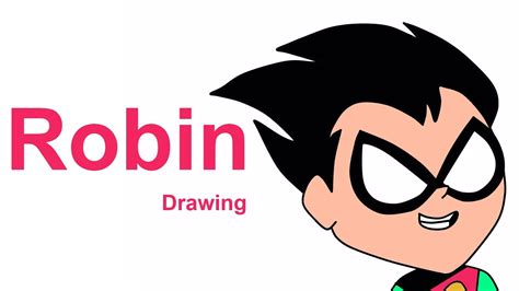 draw robin from teen titans go robin drawing teen titans go how to draw robin youtube
