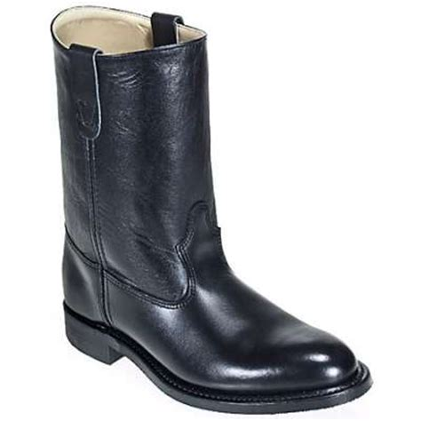mens black leather wellington boots h 3104 mens 10 inch black ranch wellington boot