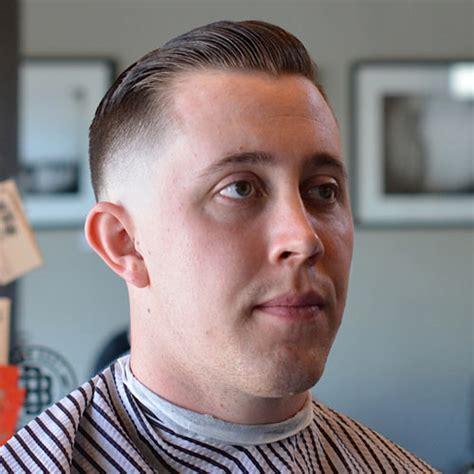 side part slicked hair receding 3 vintage slick pompadour styles barber brian burt