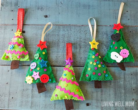 felt decorations felt tree ornaments