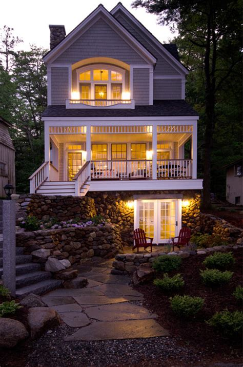 lake front house lake front home lake sunapee nh victorian exterior