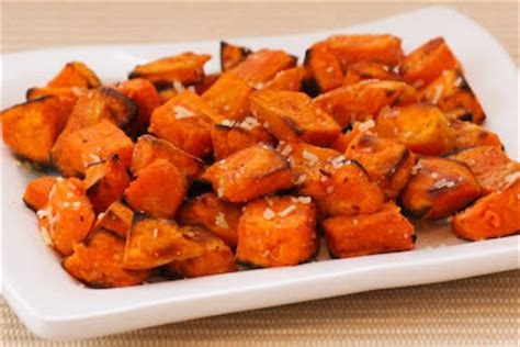 kalyn s kitchen 174 roasted sweet potatoes recipe with double truffle flavor and parmesan