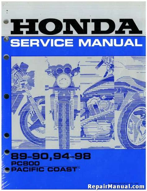 1989 1998 honda pc800 pacific coast motorcycle service manual