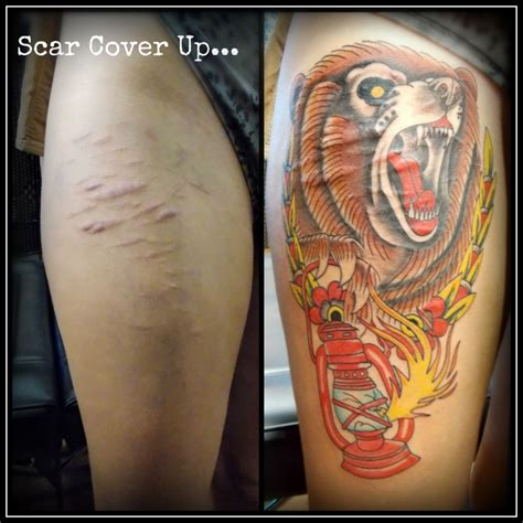 scarred tattoo scar tattoos