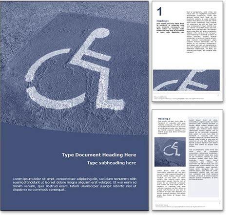 disabled parking template royalty free disabled parking microsoft word template in blue