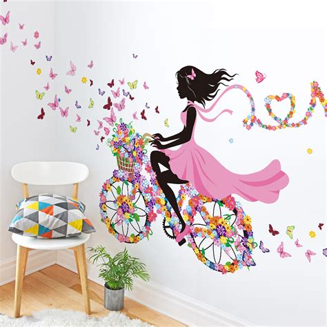 wall art for girls bedroom diy wall decor dancing girl art wall stickers for kids