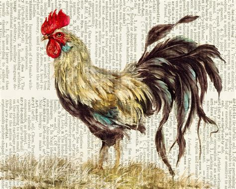 printable rooster images rooster painting print