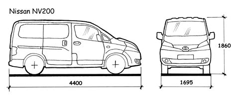 nissan nv200 length nissan nv200 dimensions image collections diagram