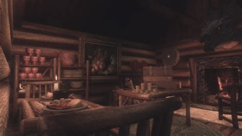 Mod Cabin by Outdated Attakyabin Small Log Cabin Player Home At Skyrim Nexus Mods And Community